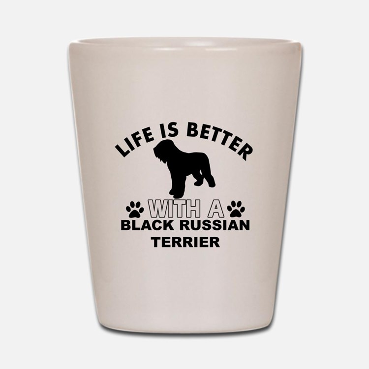 Black Russian Terrier vector designs Shot Glass