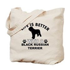 Black Russian Terrier vector designs Tote Bag