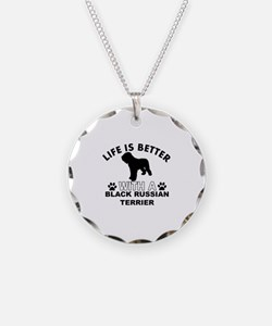 Black Russian Terrier vector designs Necklace