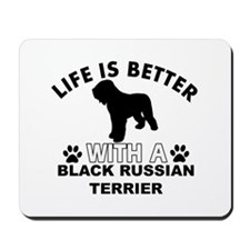 Black Russian Terrier vector designs Mousepad