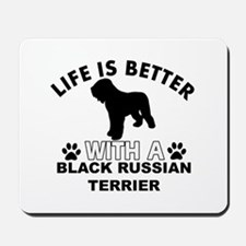 Black Russian Terrier vector designs Mousepad