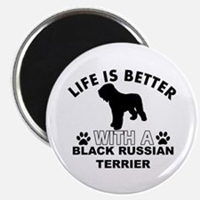 Black Russian Terrier vector designs Magnet