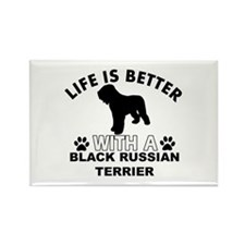 Black Russian Terrier vector designs Rectangle Mag