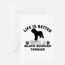 Black Russian Terrier vector designs Greeting Card
