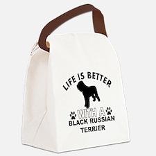 Black Russian Terrier vector designs Canvas Lunch