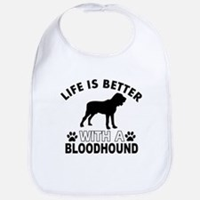 Bloodhound vector designs Bib