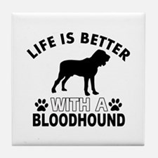 Bloodhound vector designs Tile Coaster