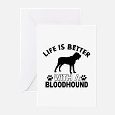 Bloodhound vector designs Greeting Cards (Pk of 20