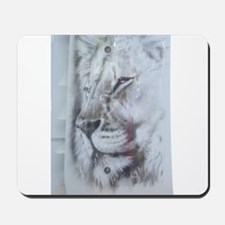 White Lion photo Mousepad