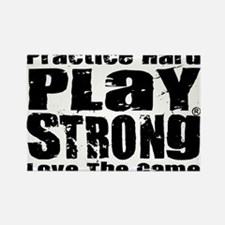 Play Strong Workout Rectangle Magnet
