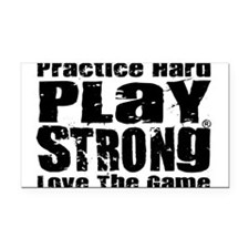 Play Strong Workout Rectangle Car Magnet
