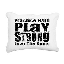 Play Strong Workout Rectangular Canvas Pillow