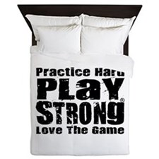 Play Strong Workout Queen Duvet