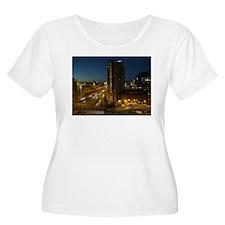 Glasgow At Night Plus Size T-Shirt