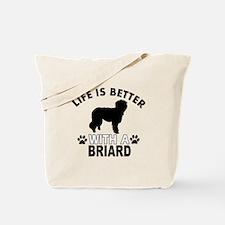 Briard vector designs Tote Bag