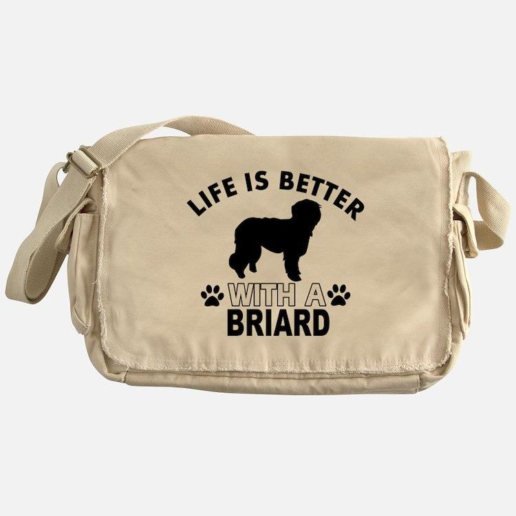 Briard vector designs Messenger Bag