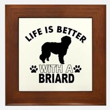 Briard vector designs Framed Tile