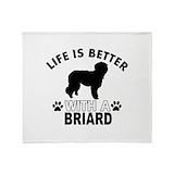 Briards Fleece Blankets