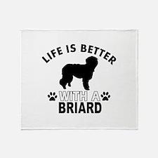 Briard vector designs Throw Blanket