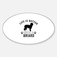 Briard vector designs Sticker (Oval)