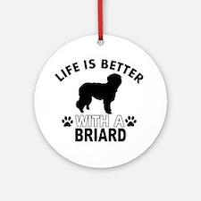 Briard vector designs Ornament (Round)