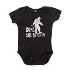 Gone squatchin print Baby Bodysuit
