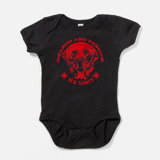 K9 UNIT red Baby Bodysuit