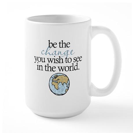 Be the change Large Mug