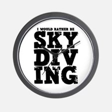'Rather Be Skydiving' Wall Clock