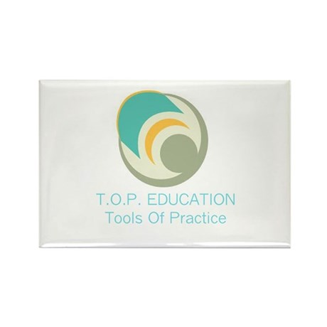 TOP Education Logo Rectangle Magnet