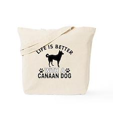 Canaan Dog vector designs Tote Bag