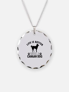 Canaan Dog vector designs Necklace