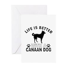 Canaan Dog vector designs Greeting Card