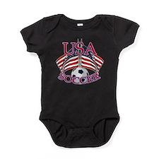 usa soccer Baby Bodysuit