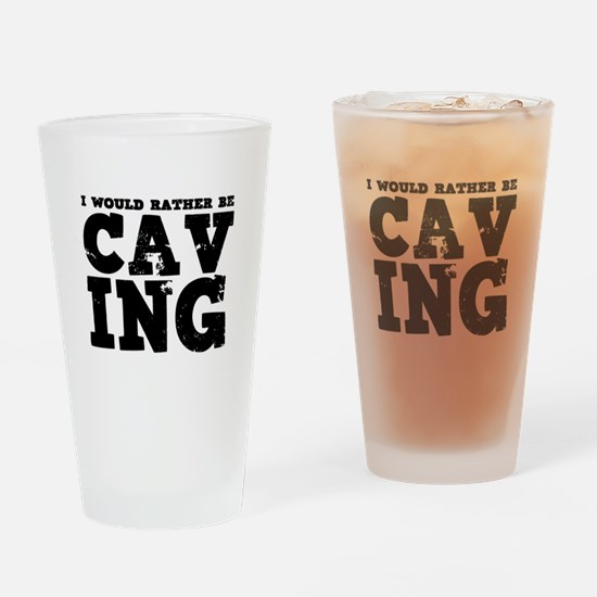 'Rather Be Caving' Drinking Glass