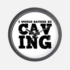 'Rather Be Caving' Wall Clock
