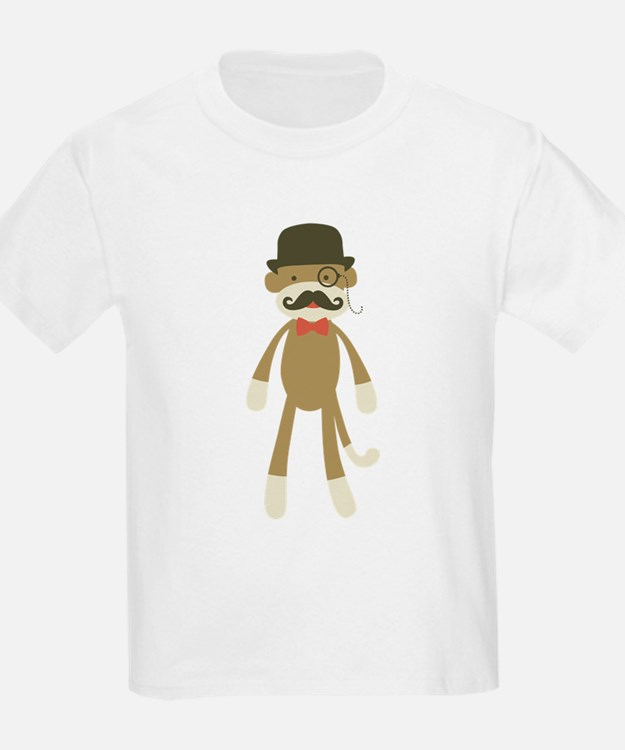 Sock monkey with Mustache and Top hat T-Shirt