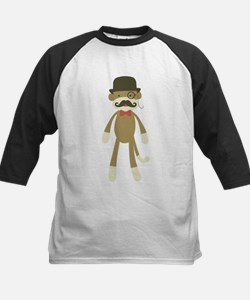 Sock monkey with Mustache and Top hat Baseball Jer