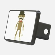 Sock monkey with Mustache and Top hat Hitch Cover