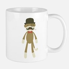Sock monkey with Mustache and Top hat Mug