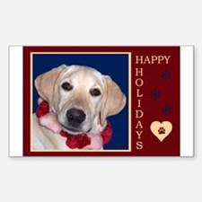 Yellow Labrador Puppy Holiday Decal