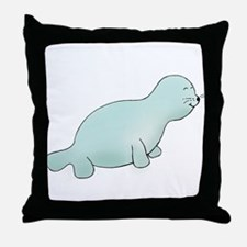 Teal Seal Throw Pillow
