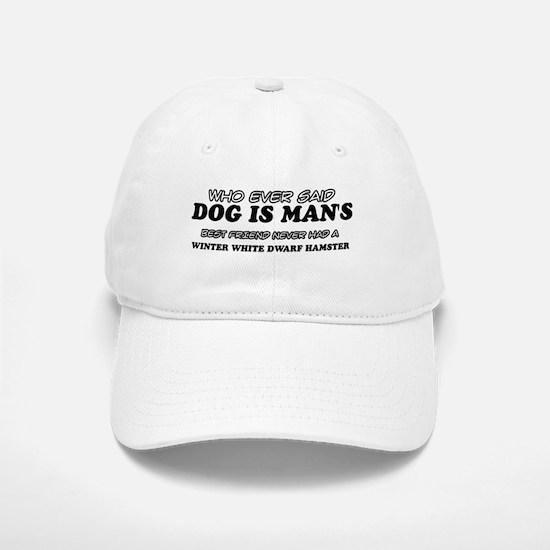Winter White Dwarf Hamster designs Baseball Baseball Cap