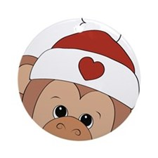 monkey girl Ornament (Round)