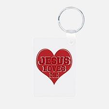 JESUS Loves Me Keychains