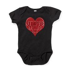 JESUS Loves Me Baby Bodysuit