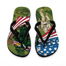Military / Soldier Design Flip Flops