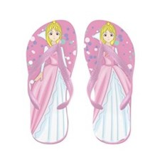 Beautiful Pink Princesscolorful Elegant Flip Flops