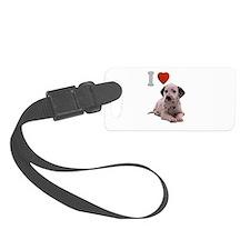 I Love Dalmatian Luggage Tag