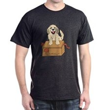 cat in box mens dark t-shirt